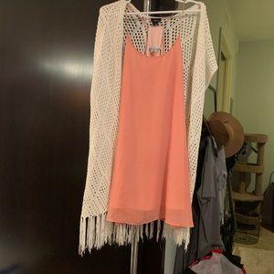 Cecico coral strapped dress.